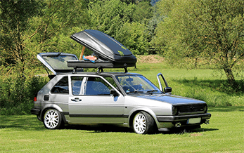 Golf 2 mit Dachbox